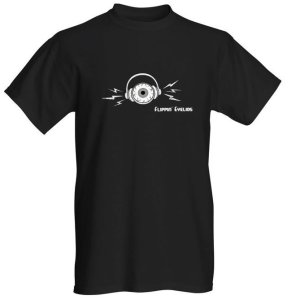 Flippin' Eyelids T-Shirt (Eyeball w/ Lightning Bolts)