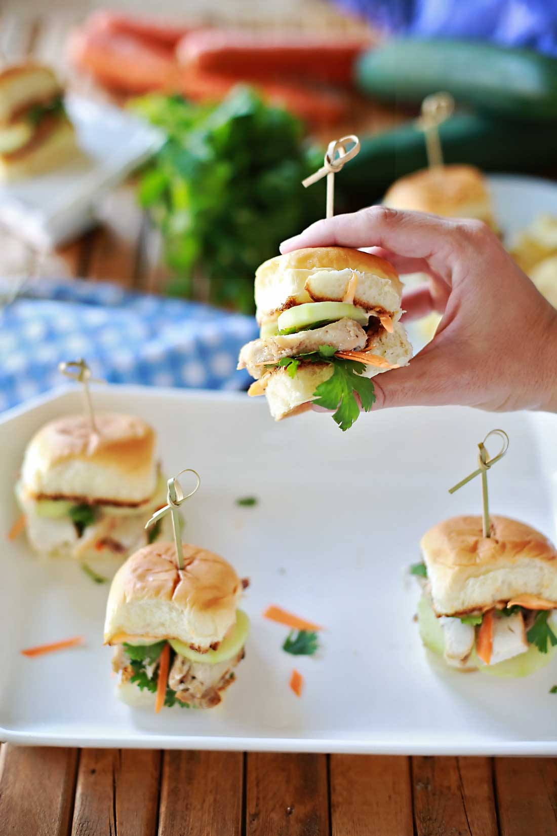 Grilled Chicken Banh Mi Sliders by Flirting with Flavor