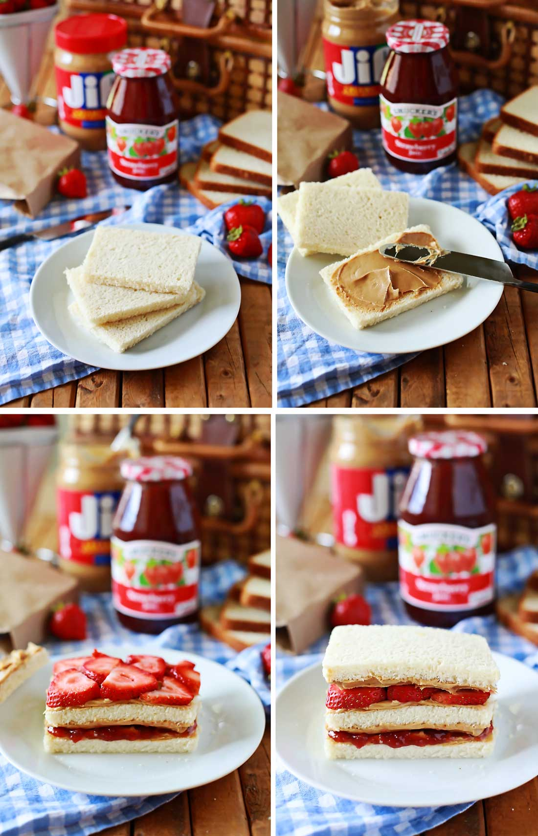 The best Peanut Butter and Jelly Sandwich ever of all time! Easy yummy recipe by Flirting with Flavor.