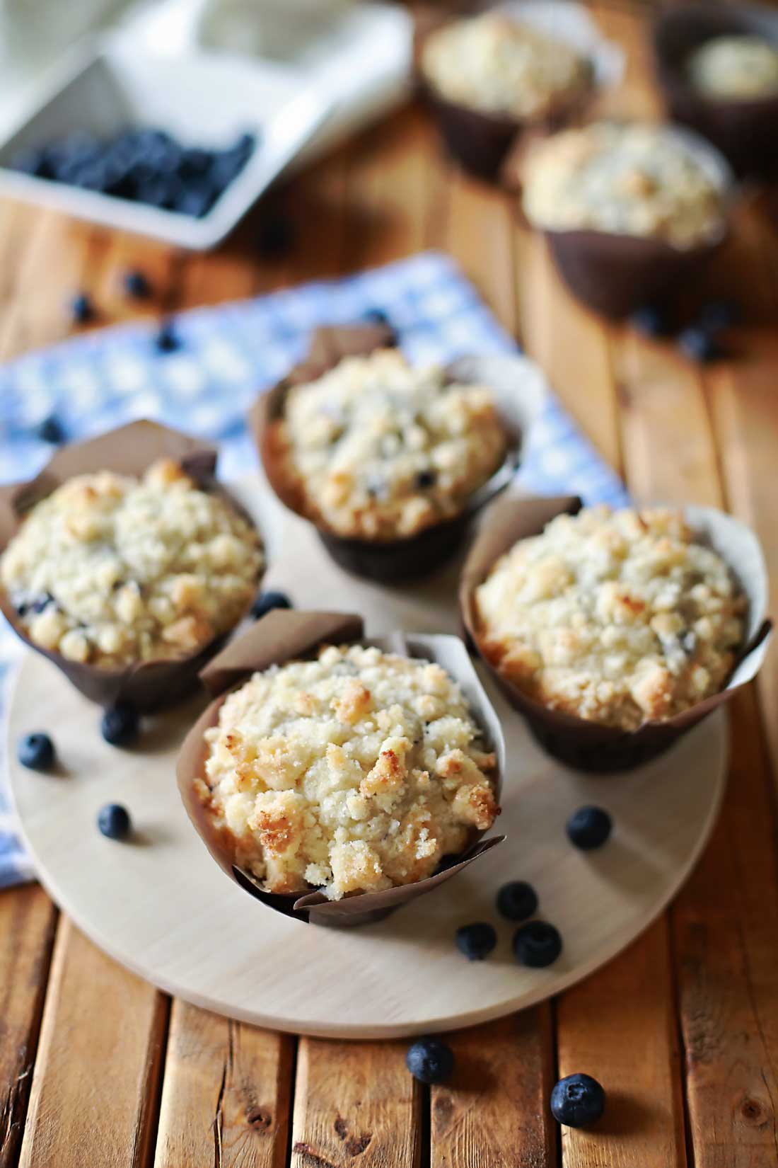 Cream Cheese and Blueberry Muffins by Flirting with Flavor