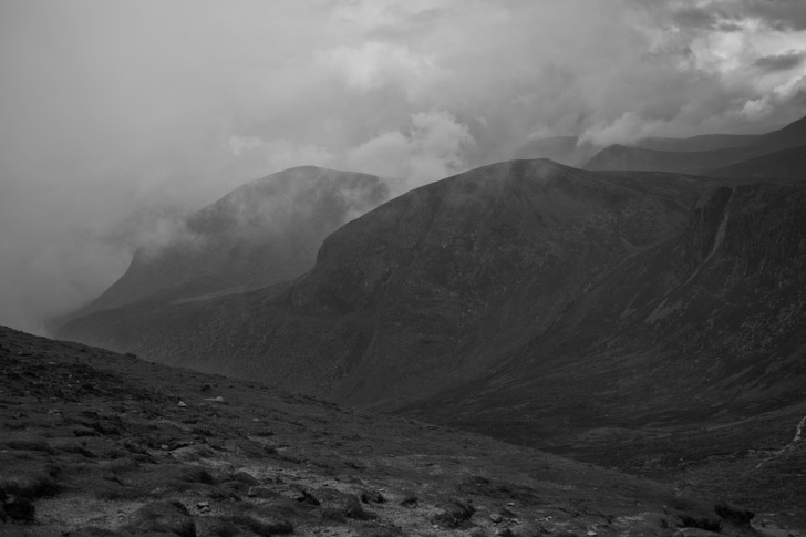 View on the way up - Donard mountain