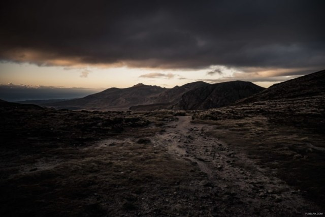 The view to Slieve Bearnagh