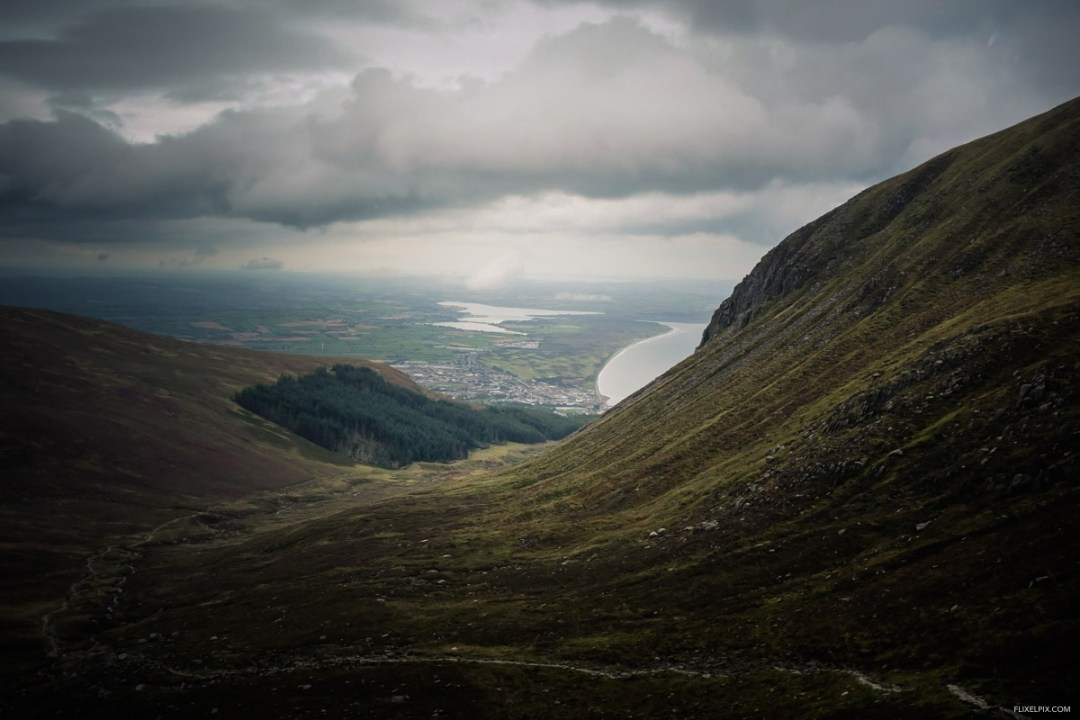 Picked the worst weather to head for an evening run on Donard.