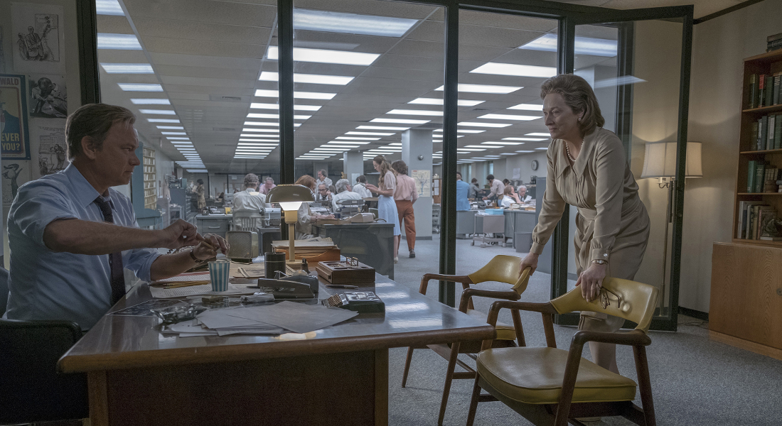 Tom Hanks and Meryl Streep in Steven Spielberg's The Post (2017)