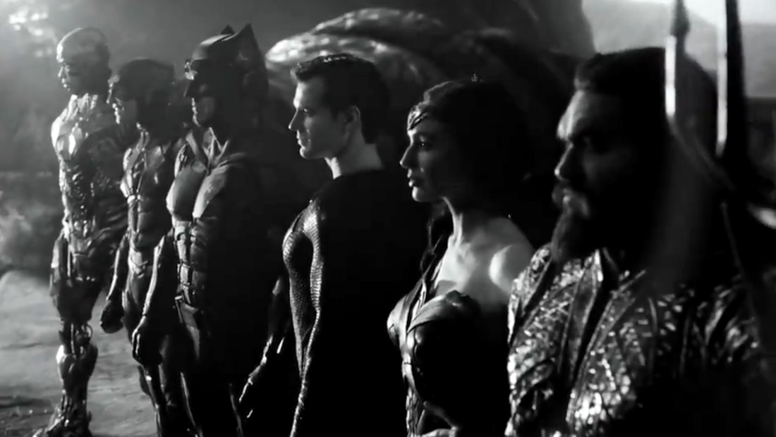 Zack Snyder's Justice League in black and white