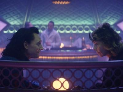 Loki and Sylvie in bar Episode 3