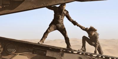 Timothee Chalamet and Josh Brolin in Dune, 2021 (c) Warner Bros.
