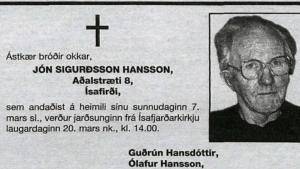 Jón Sigurðsson Hansson
