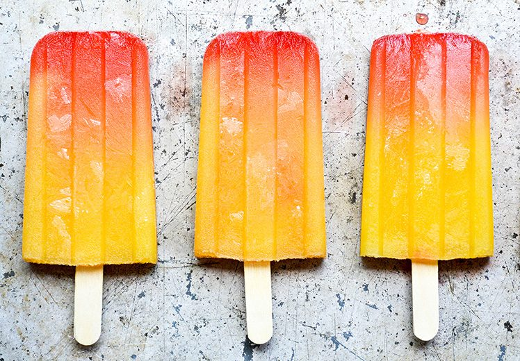 spicy tequila sunrise popsicles