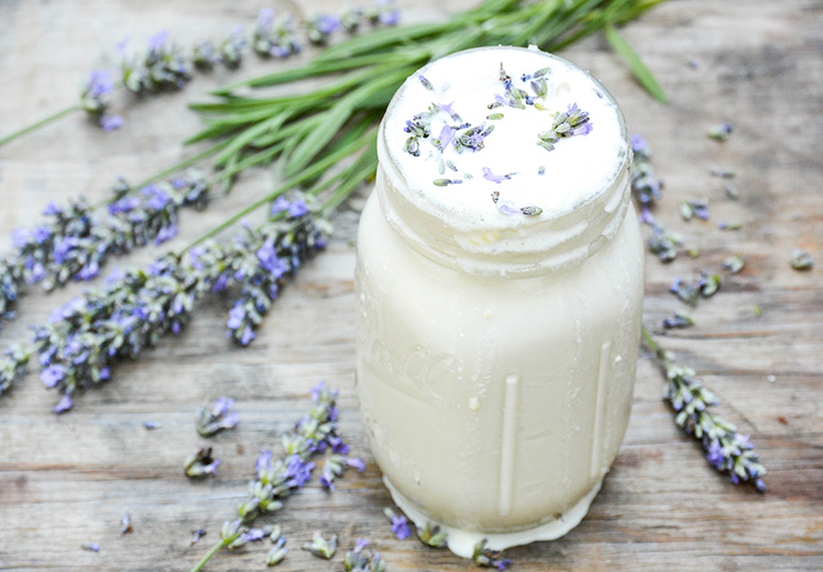 Lavender White Chocolate Milkshake