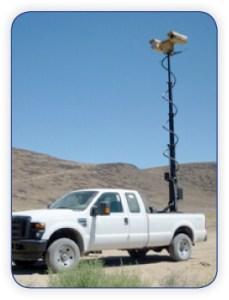 Border Surveillance Mast on Truck