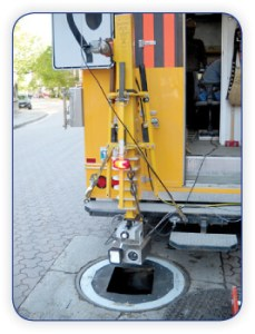 Telescopic Mast mounted on a truck