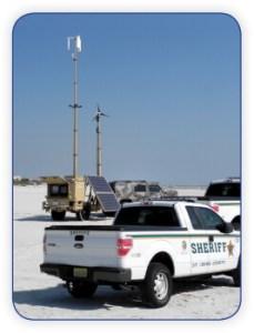 Law enforcement telescopic mast