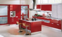 ikea red kitchen cabinets | Home Designs Project
