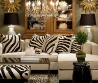 animal print living room decorating ideas | Home Designs ...