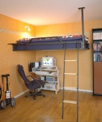 Loft Bed Attached To The Wall
