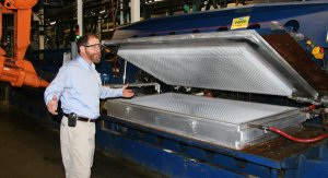 Dave inspects Talalay latex core in production