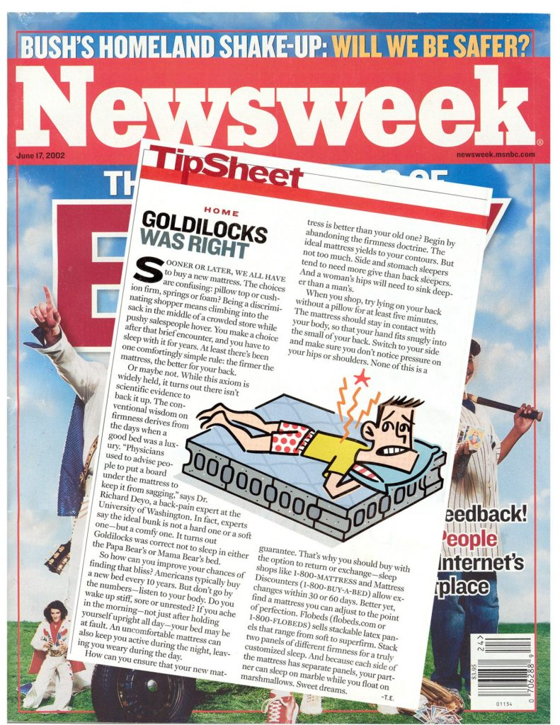 Newsweek was right - this bed is JUST RIGHT