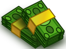 green bundle of cash graphic