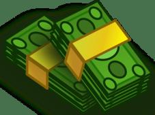 green bundle of cash graphic