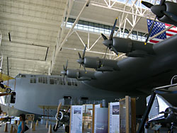 That's the Spruce Goose, and man it BIG!!!
