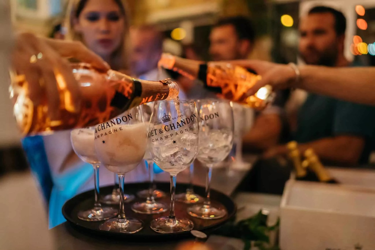 Moet Champagner Muenchen Event