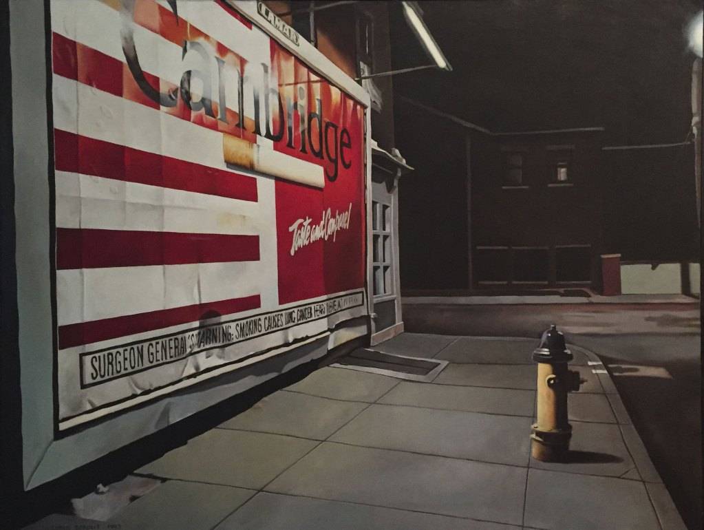 """Fifth Street,"" 1993, Tobin Sprout, American b. 1955, 42 x 32 inches, oil on canvas"