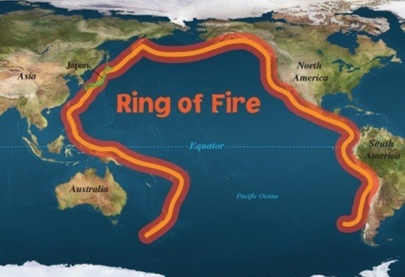 Rim Of Fire Map.Dozens Of Quakes Rattle Pacific S Ring Of Fire Floodgates Blog
