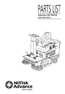 Part manuals for Advance SR