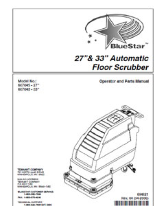 Part Manual for BlueStar Auto Scrubber 607045 and 607043
