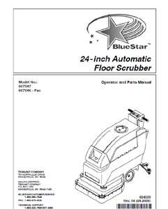 Part Manual for BlueStar Auto Scrubber 607047 and 607046