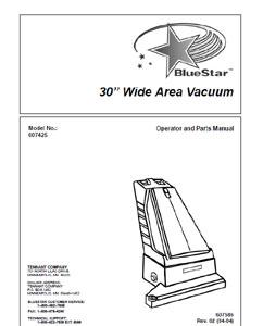 Part Manual for BlueStar Model 607425