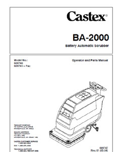 Part Manual for Castex BA-2000