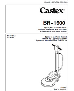 Part Manual for Castex BR-1600