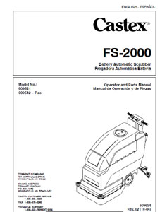 Part Manual for Castex FS-2000