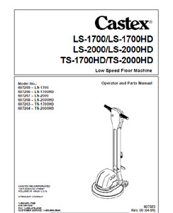 Part Manual for Castex LS and TS Series