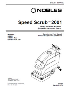 Part manuals for Speed Scrub 2001