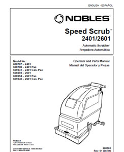 Part manuals for Speed Scrub 2401 & 2601