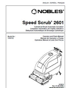 Part manual for Nobles Speed Scrub 2601 Cylindrical