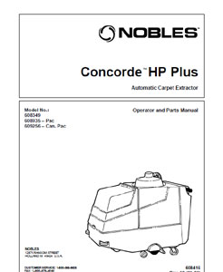 Part manuals for Nobles Concorde