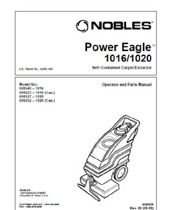 Part manuals for Nobles Power Eagle 1016 & 1020