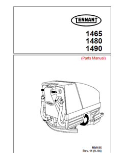 Parts Manual for Tennant auto scrubber 1465, 1480, 1490