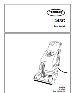 Parts Manual for Tennant auto scrubber 443C