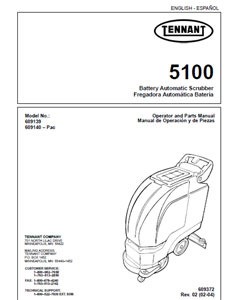 Parts Manual for Tennant 5100