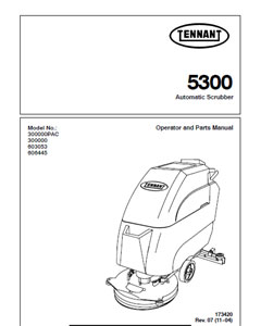 Parts Manual for Tennant 5300