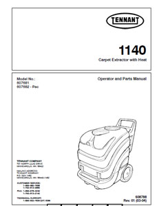 Tennant Nobles Ss5 Parts Manual