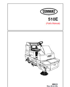Parts Manual for Tennant 510E Rider Scrubber