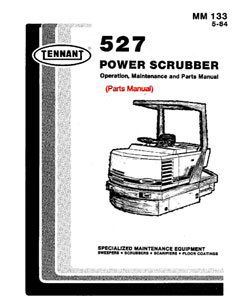 Parts Manual for Tennant 527 Rider Scrubber