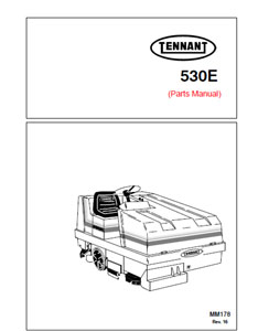Parts Manual for Tennant 530E Rider Scrubber
