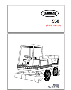 Parts Manual for Tennant 550 Rider Scrubber